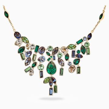 Beautiful Earth by Susan Rockefeller Necklace, Bib, Dark multi-colored, Gold-tone plated - Swarovski, 5535897