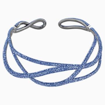 Ras-de-cou Tigris Statement, bleu, métal plaqué ruthénium - Swarovski, 5535902