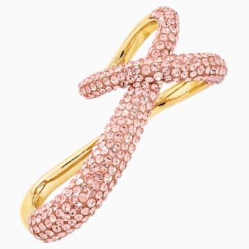 Tigris Doppelring, rosa, vergoldet - Swarovski, 5535907