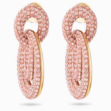 Orecchini Tigris, rosa, placcato color oro - Swarovski, 5535908