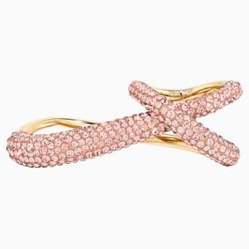 Anillo doble Tigris, rosa, baño tono oro - Swarovski, 5535949