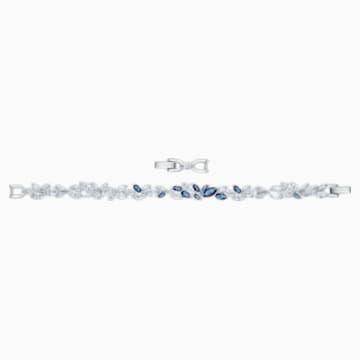 Louison 手鏈, 藍色, 鍍白金色 - Swarovski, 5536548