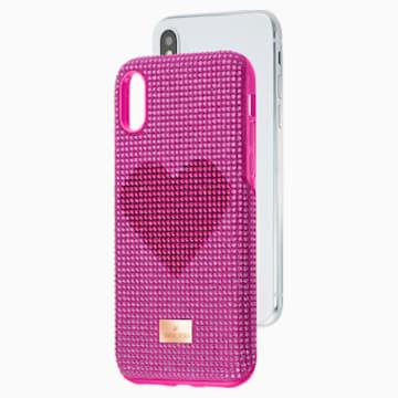 Crystalgram Heart 智能手机防震保护套, iPhone® X/XS, 粉红色 - Swarovski, 5536634