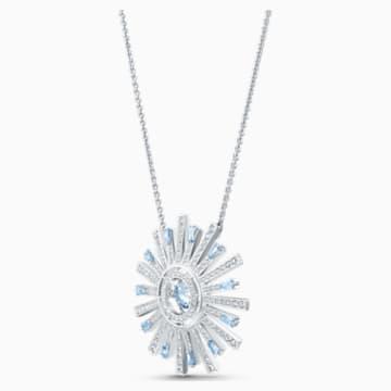 Sunshine 项链, 蓝色, 镀铑 - Swarovski, 5536731