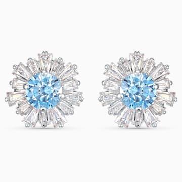 Sunshine 蓝色仿水晶花朵造型耳钉- Swarovski, 5536741
