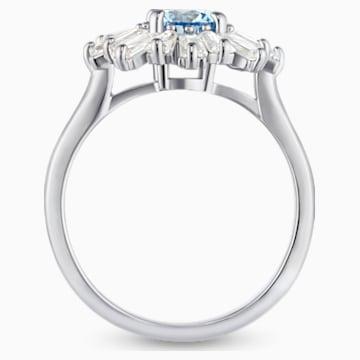 Δαχτυλίδι Sunshine, μπλε, επιροδιωμένο - Swarovski, 5536743