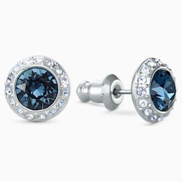 Boucles d'oreilles clous Angelic, bleu, métal rhodié - Swarovski, 5536770
