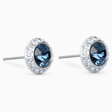Kolczyki sztyftowe Angelic, niebieskie, powlekane rodem - Swarovski, 5536770