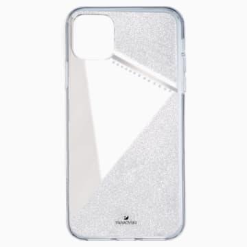 Coque rigide pour smartphone avec cadre amortisseur Subtle, iPhone® 11 Pro Max, ton argenté - Swarovski, 5536849