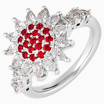 Anello Botanical, rosso, placcato rodio - Swarovski, 5536873