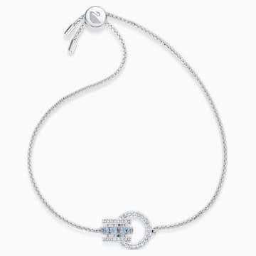 Pulsera Further, azul, baño de rodio - Swarovski, 5537123