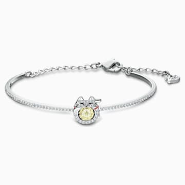 Swarovski Sparkling Dance Cat Bangle, Light multi-colored, Rhodium plated - Swarovski, 5537487