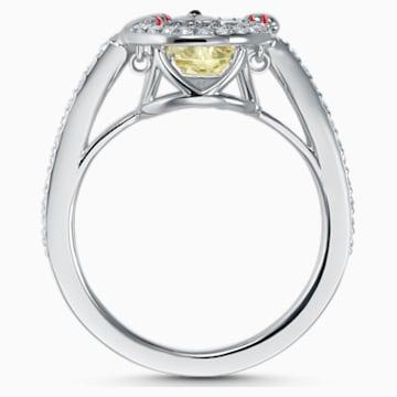 Swarovski Sparkling Dance Cat Ring, Light multi-coloured, Rhodium plated - Swarovski, 5537489