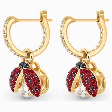 Orecchini Swarovski Sparkling Dance Ladybug, rosso, placcato color oro - Swarovski, 5537490