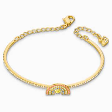 Brazalete Swarovski Sparkling Dance Rainbow, colores claros, baño tono oro - Swarovski, 5537493
