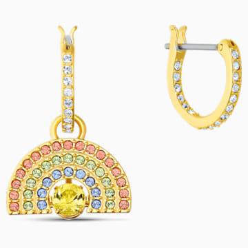 Swarovski Sparkling Dance Rainbow Pierced Earrings, Light multi-colored, Gold-tone plated - Swarovski, 5537494