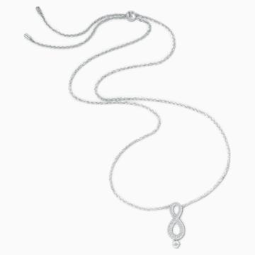 Collana Swarovski Infinity, bianco, placcato rodio - Swarovski, 5537966
