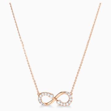 18K RG Dia Infinity Swans Necklace - Swarovski, 5538158