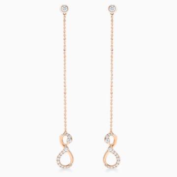 18K RG Dia Infinity Swans Earrings - Swarovski, 5538159
