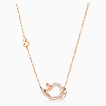 鼠你当红18K玫瑰金钻石项链 - Swarovski, 5538160