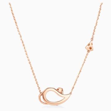18 RG Zodiac Outline Mouse Necklace - Swarovski, 5538160