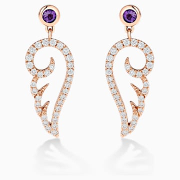 18K RG Dia Outline Wing Earrings (Ame) - Swarovski, 5538165