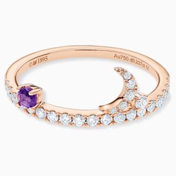 星愿之光18K玫瑰金紫晶钻石戒指 - Swarovski, 5538166