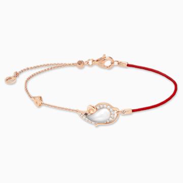 鼠你当红18K玫瑰金乳白水晶钻石手链 - Swarovski, 5538173