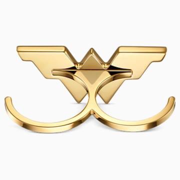 Anillo doble Fit Wonder Woman, tono dorado, combinación de acabados metálicos - Swarovski, 5538419