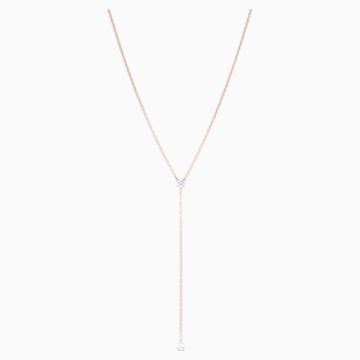 Collana a Y Attract Soul, bianco, placcato color oro rosa - Swarovski, 5539007