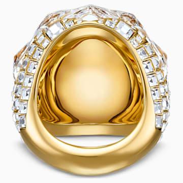 Prsten Tropical, bílý, pozlacený - Swarovski, 5539036