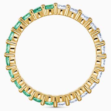 Vittore Half 戒指, 綠色, 鍍金色色調 - Swarovski, 5539749