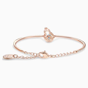 Full Blessing Hulu Bangle, Blue, Rose-gold tone plated - Swarovski, 5539905