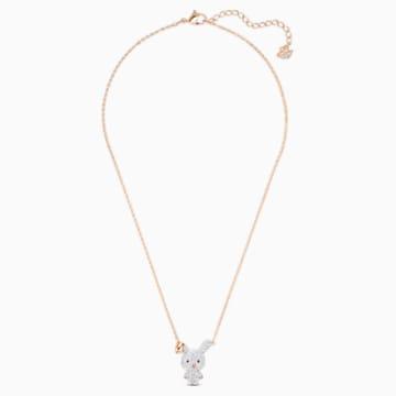 Little Bunny 链坠, 白色, 镀金色调 - Swarovski, 5540494