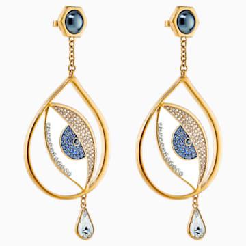Boucles d'oreilles Surreal Dream, bleu, métal doré - Swarovski, 5540645