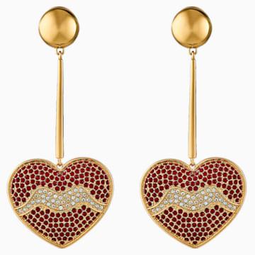 Boucles d'oreilles Surreal Dream, rouge, métal doré - Swarovski, 5540648