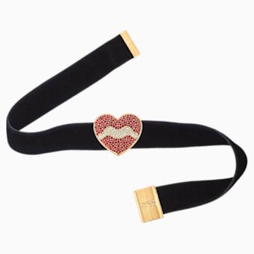 Girocollo Surreal Dream, cuore, nero, placcato color oro - Swarovski, 5540651