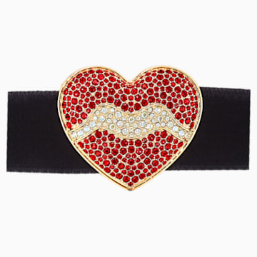 Surreal Dream Choker, Heart, Black, Gold-tone plated - Swarovski, 5540651