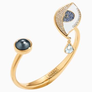 Surreal Dream Cuff, Eye, Blue, Gold-tone plated - Swarovski, 5540652