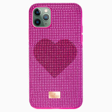 Crystalgram Heart Smartphone Case with Bumper, iPhone® 11 Pro Max, Pink - Swarovski, 5540722