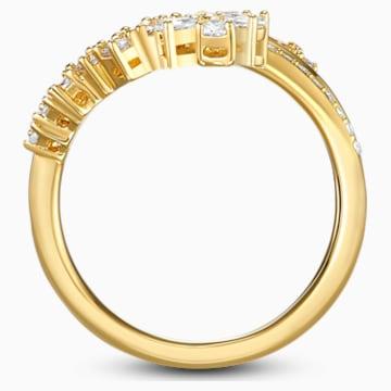 Botanical Ring, weiss, vergoldet - Swarovski, 5542529