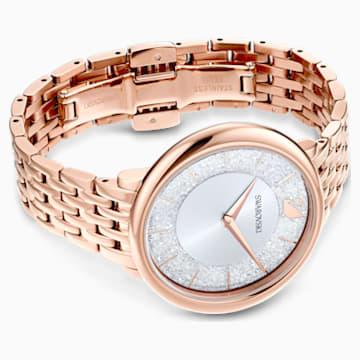 Ρολόι Crystalline Chic, μεταλλικό μπρασελέ, χρυσή ροζ απόχρωση, PVD σε χρυσή-ροζ απόχρωση - Swarovski, 5544590