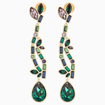 Beautiful Earth Pierced Earrings, Multicolored, Gold-tone plated - Swarovski, 5545991