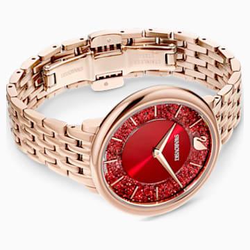 Crystalline Chic Uhr, Metallarmband, rot, rosé vergoldetes PVD-Finish - Swarovski, 5547608