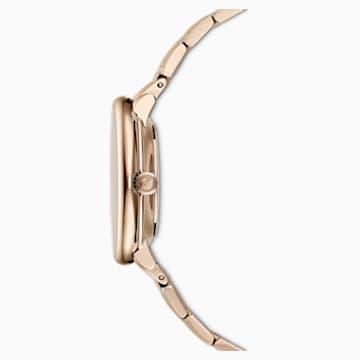 Crystalline Chic karóra, fém karkötő, szürke, pezsgőarany árnyalatú PVD - Swarovski, 5547611