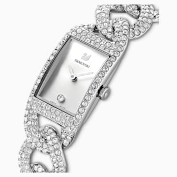 Cocktail Watch, Full Pavé, Metal bracelet, Silver tone, Stainless Steel - Swarovski, 5547617