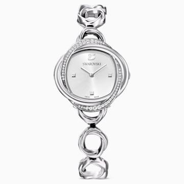Montre Crystal Flower, bracelet en métal, ton argenté, acier inoxydable - Swarovski, 5547622