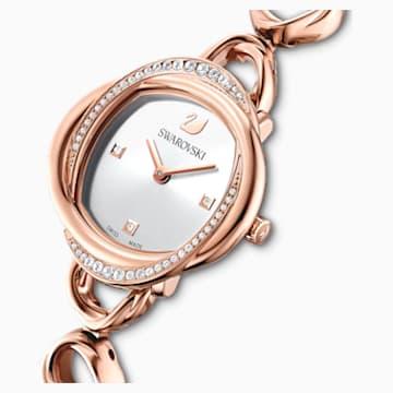 Crystal Flower Uhr, Metallarmband, roséfarben, rosé vergoldetes PVD-Finish - Swarovski, 5547626