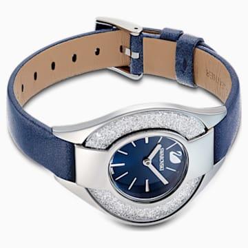 Crystalline Sporty 手錶, 真皮錶帶, 藍色, 不銹鋼 - Swarovski, 5547629