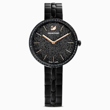 Cosmopolitan-horloge, Metalen armband, Zwart, Zwart PVD - Swarovski, 5547646